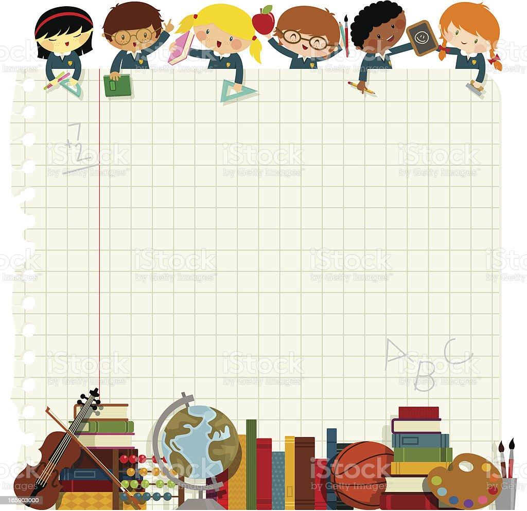 Kids back to school vector art illustration