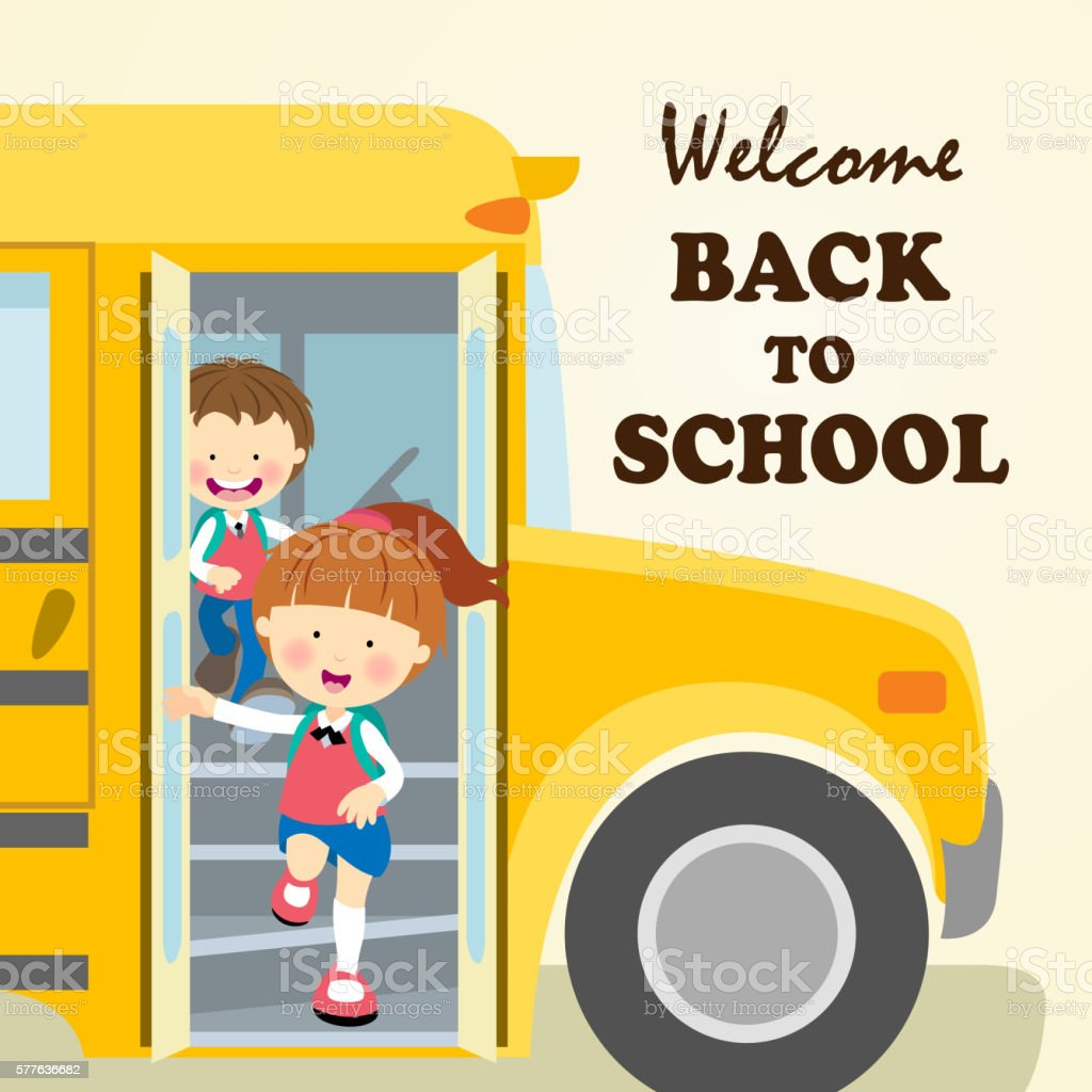 Kids Back to School vector art illustration