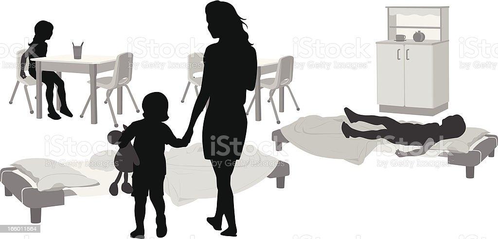 Kids Corner vector art illustration