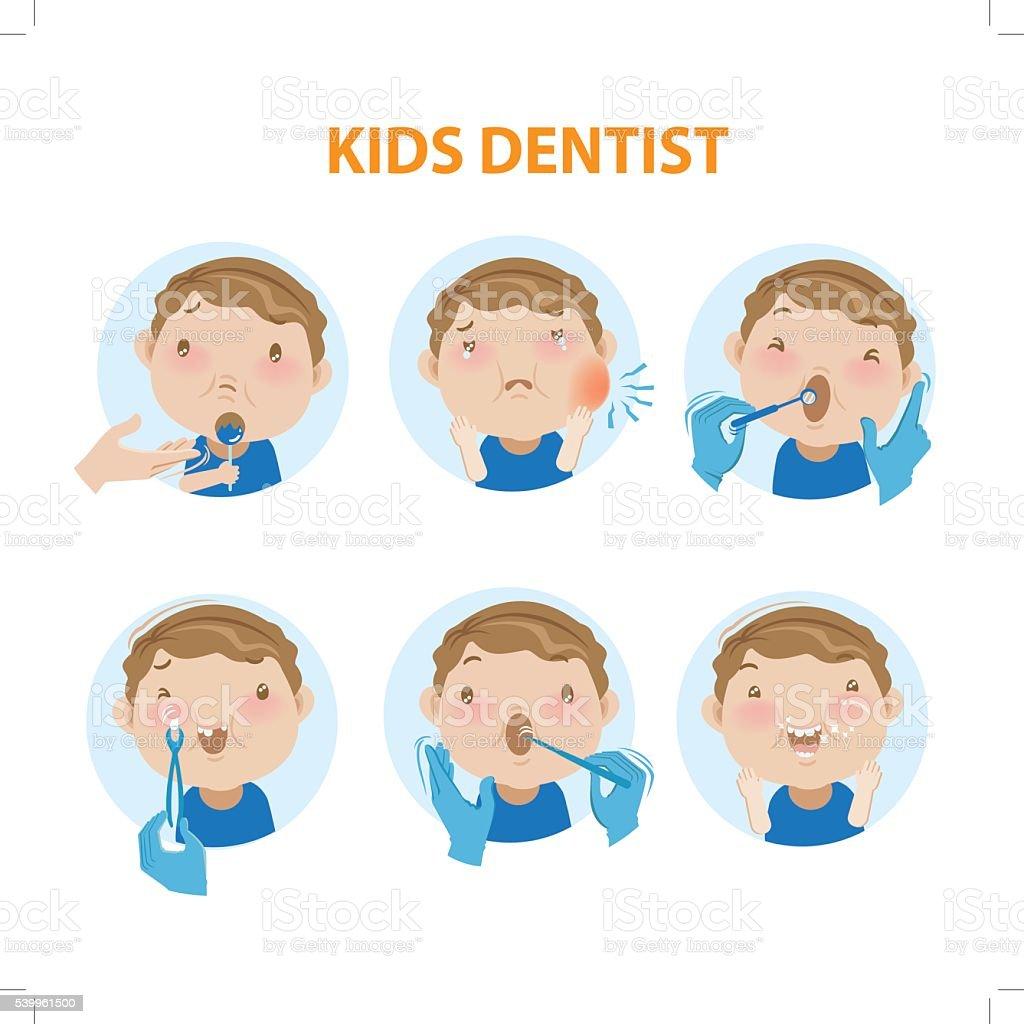 Bambini Dentista illustrazione royalty-free