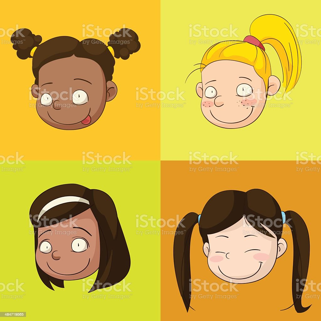 Kids, girl royalty-free stock vector art