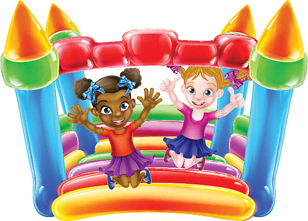 Jumping Castle Clip Art, Vector Images & Illustrations - iStock
