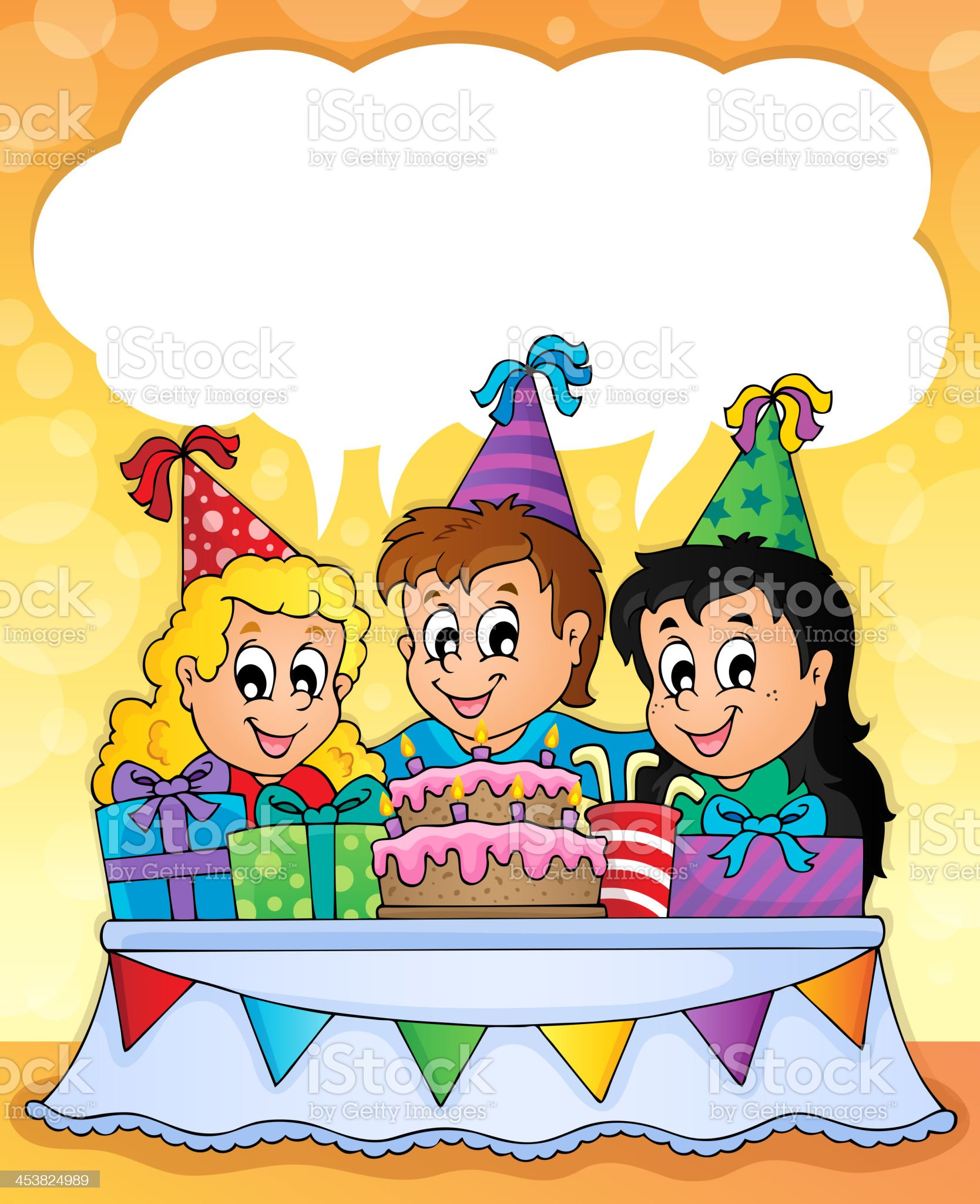 Kids party theme image 2 royalty-free stock vector art