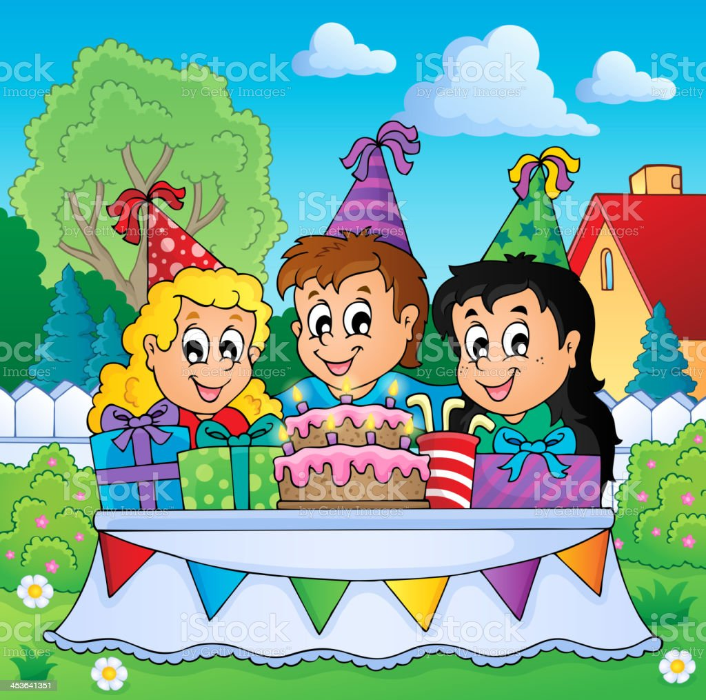 Kids party theme image 3 royalty-free stock vector art