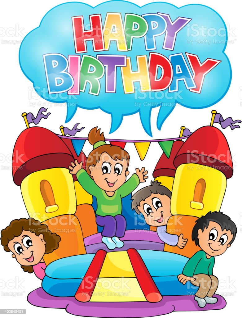 Kids party theme image 6 vector art illustration