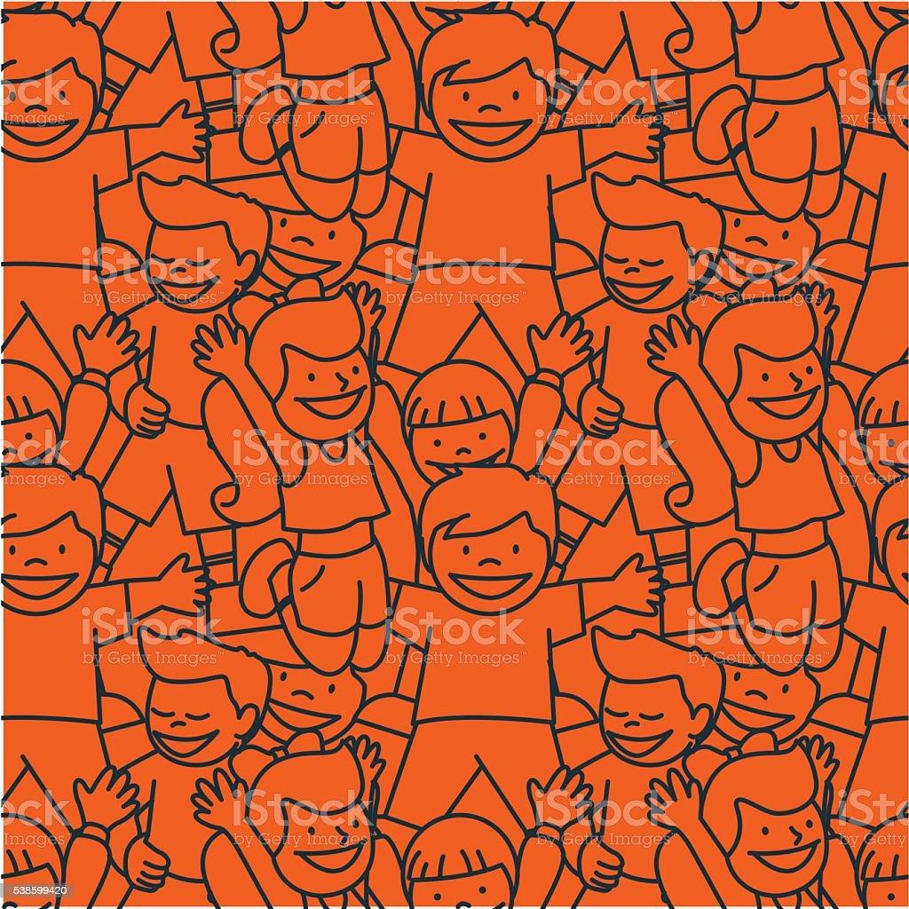 Kids Pattern vector art illustration