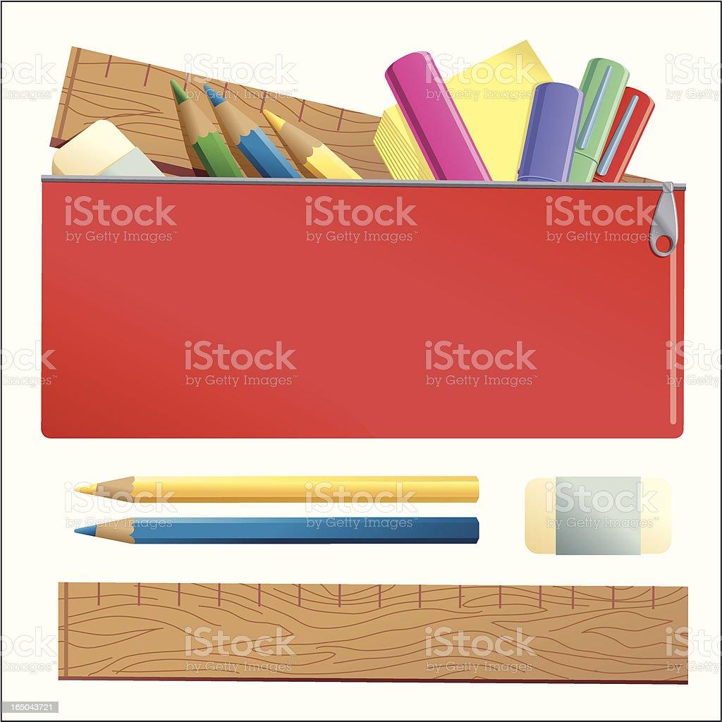 Kids Pencil Case royalty-free stock vector art