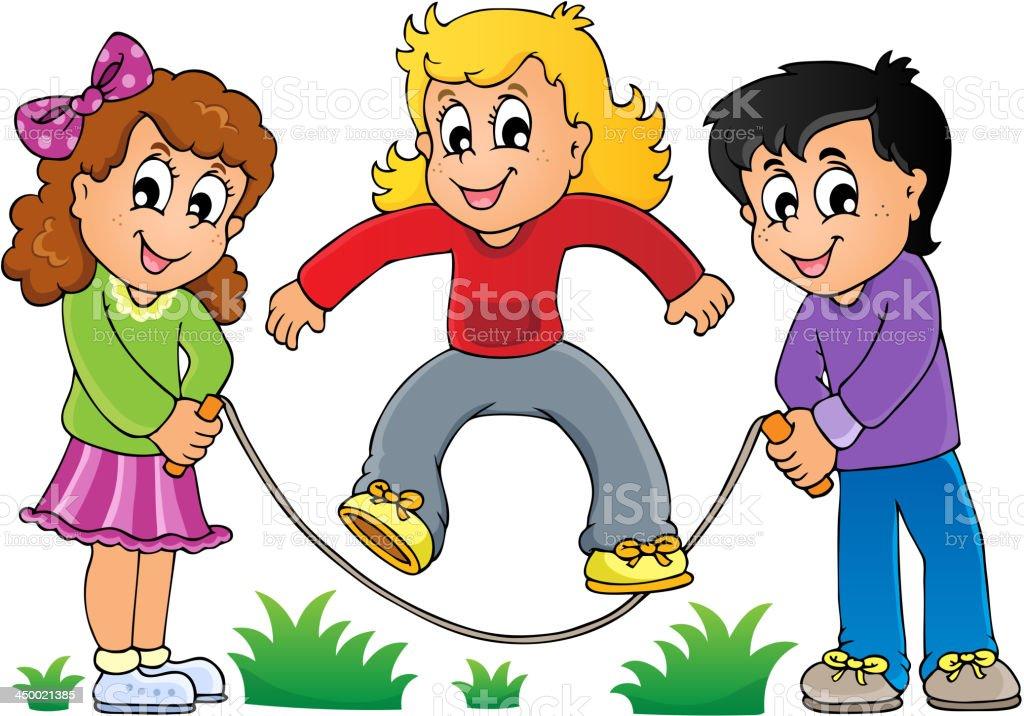Kids play theme image 1 royalty-free stock vector art