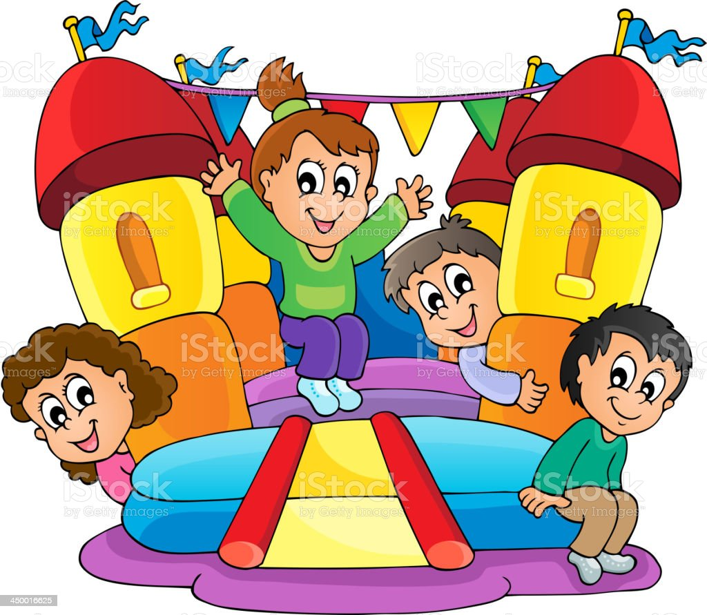 Kids play theme image 9 vector art illustration