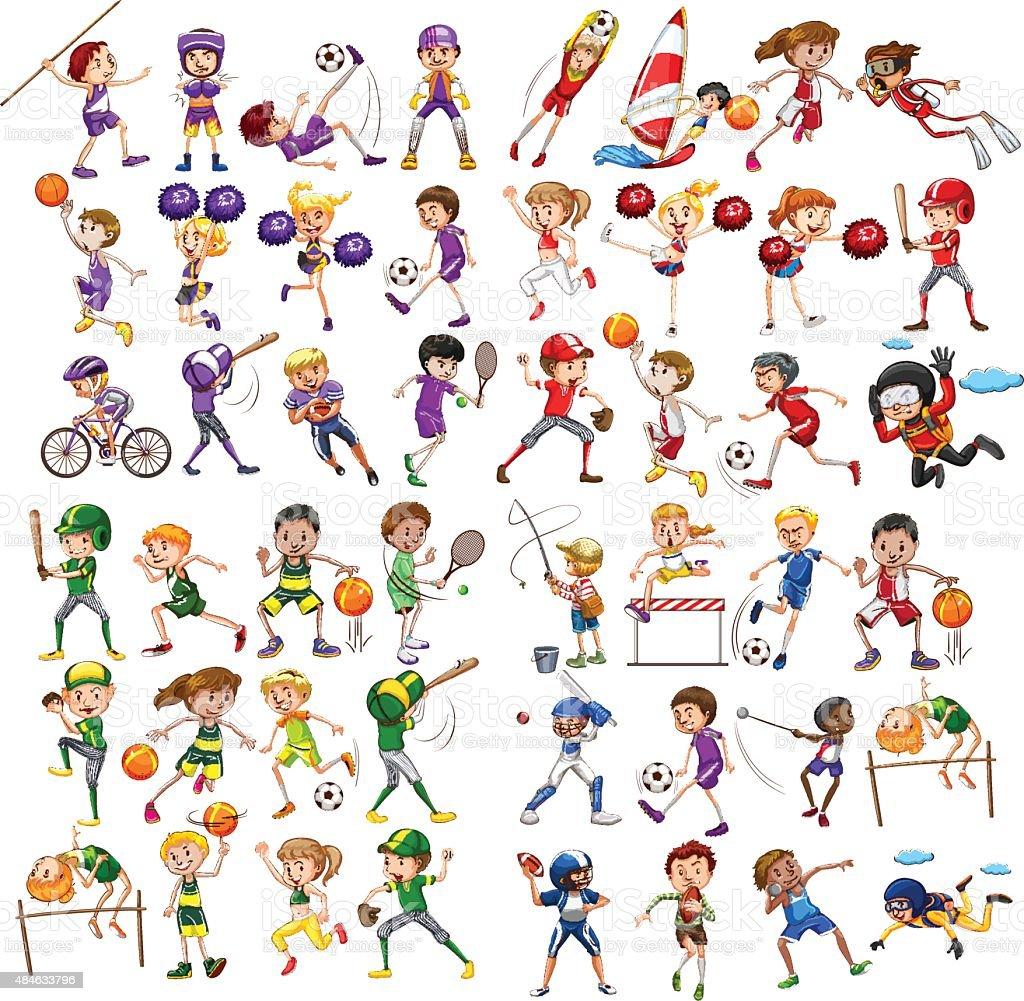子供遊びさまざまなスポーツ のイラスト素材 484633796