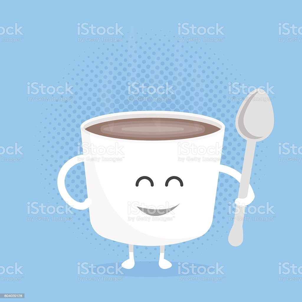 Smiley Face Coffee Mug Kids Restaurant Menu Cartoon Cardboard Character Funny Cute Mug