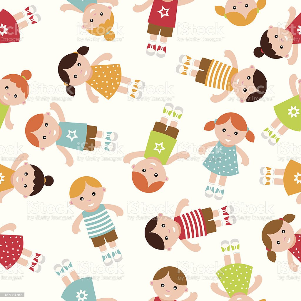 Kids seamless pattern royalty-free stock vector art