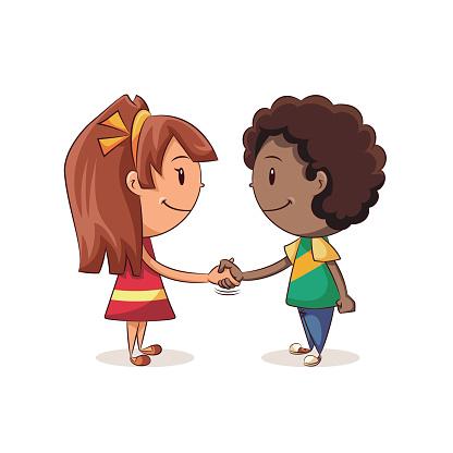 children handshake clipart - photo #3