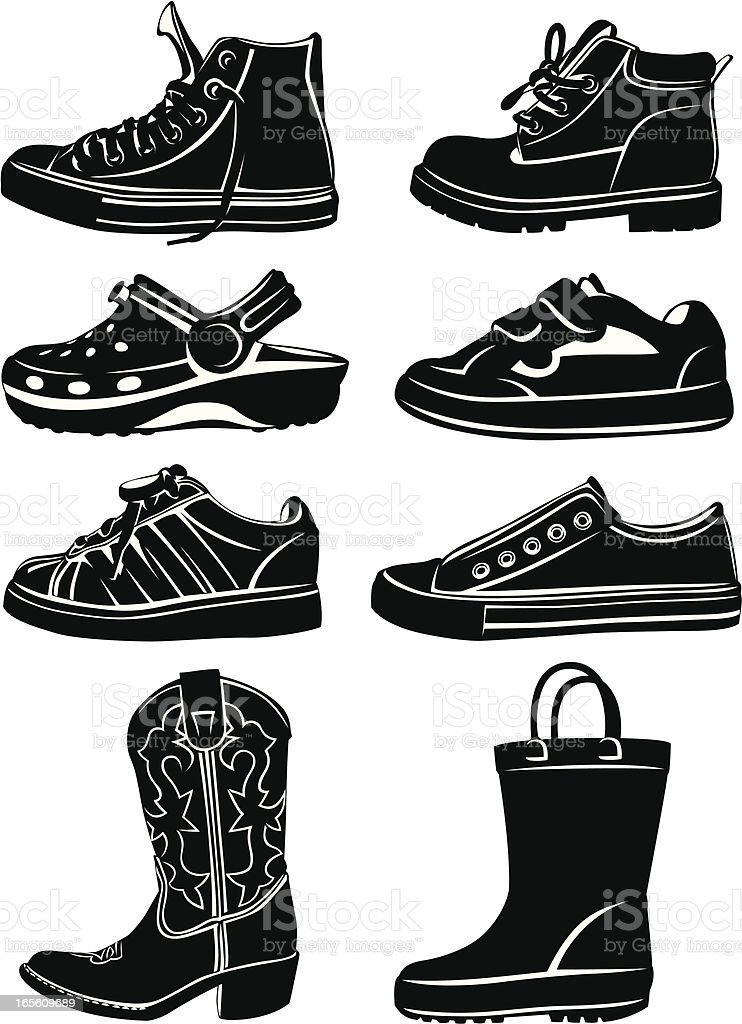 Kid's Shoes royalty-free stock vector art