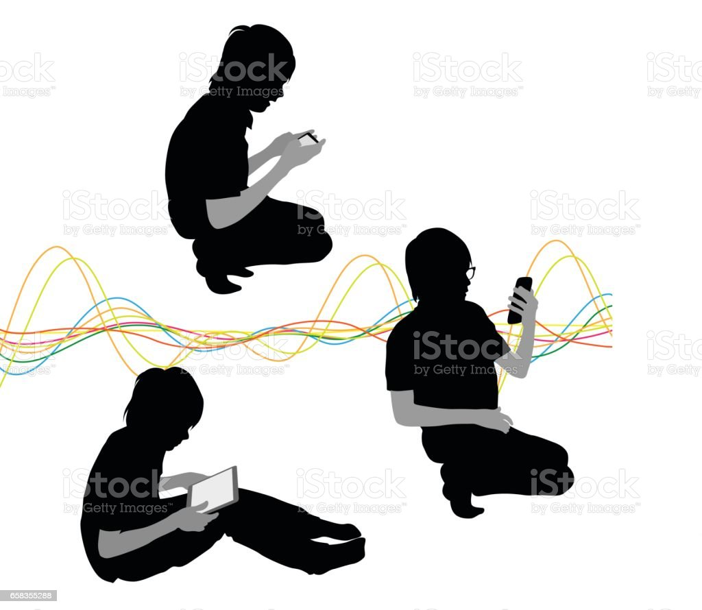 Kids Tech vector art illustration