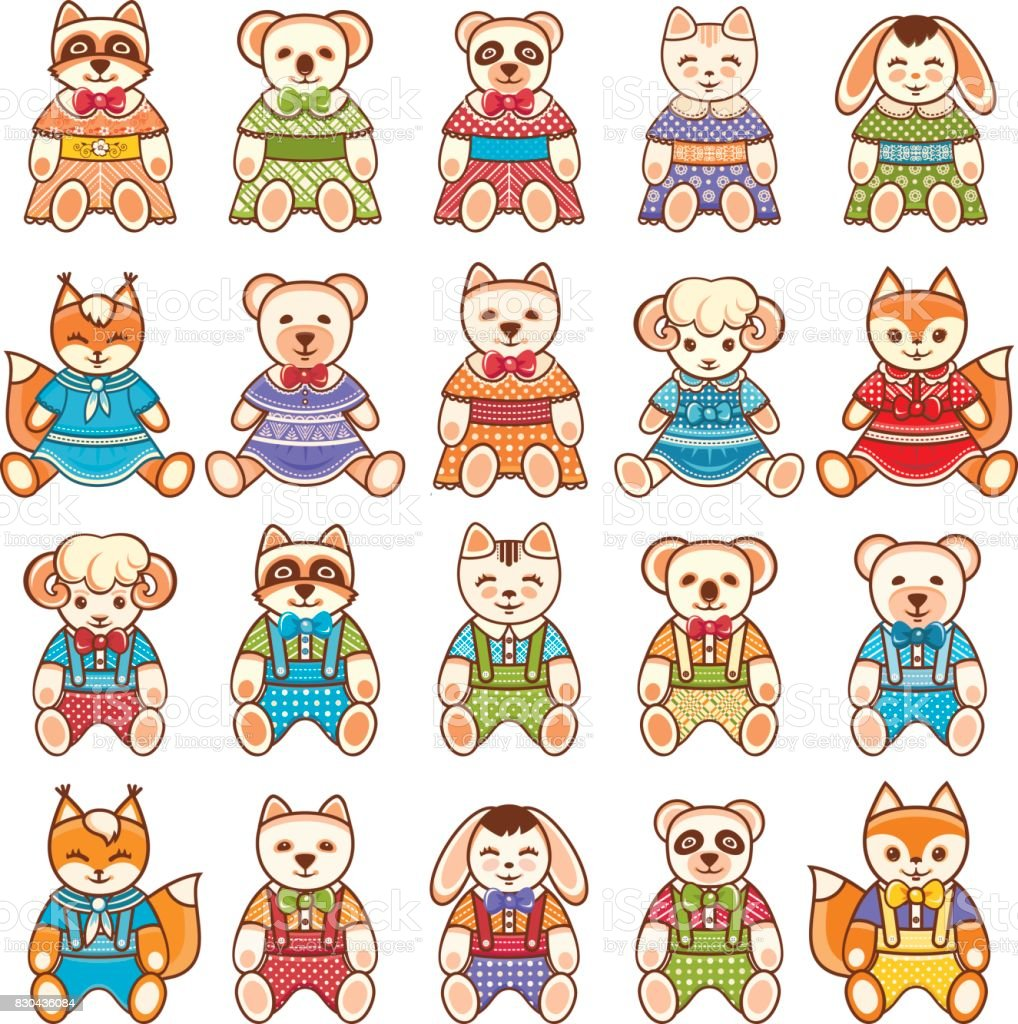 Kids toy set. Baby background. vector art illustration
