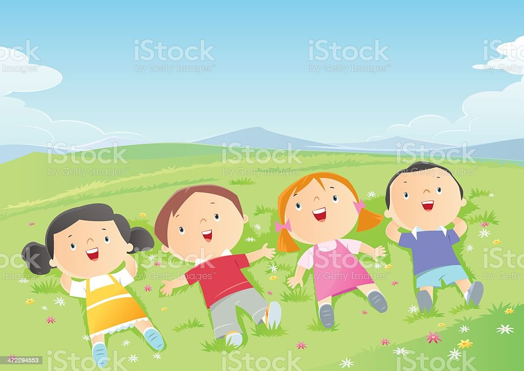 Kids vector art illustration