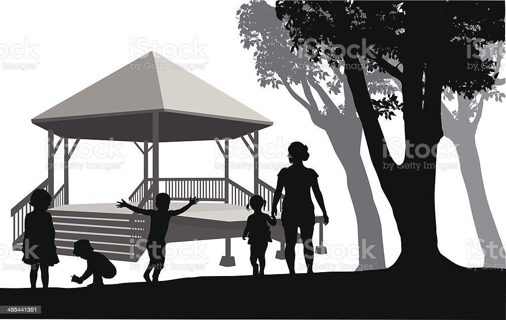 KidsPark vector art illustration