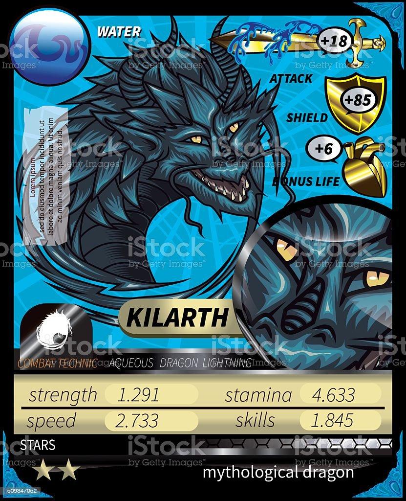 Kilarth_Card vector art illustration