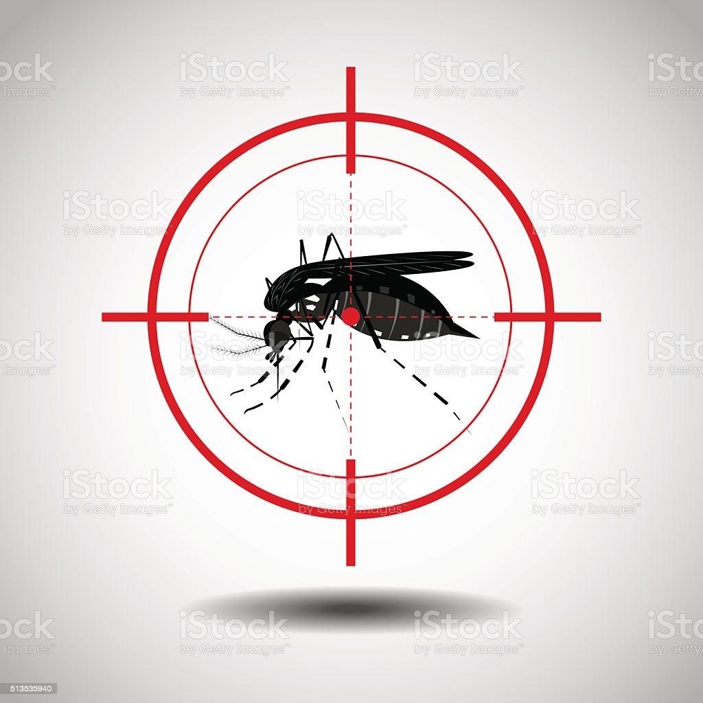 kill mosquito vector art illustration