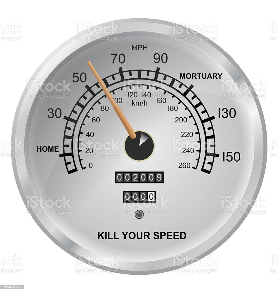 Kill your speed vector art illustration