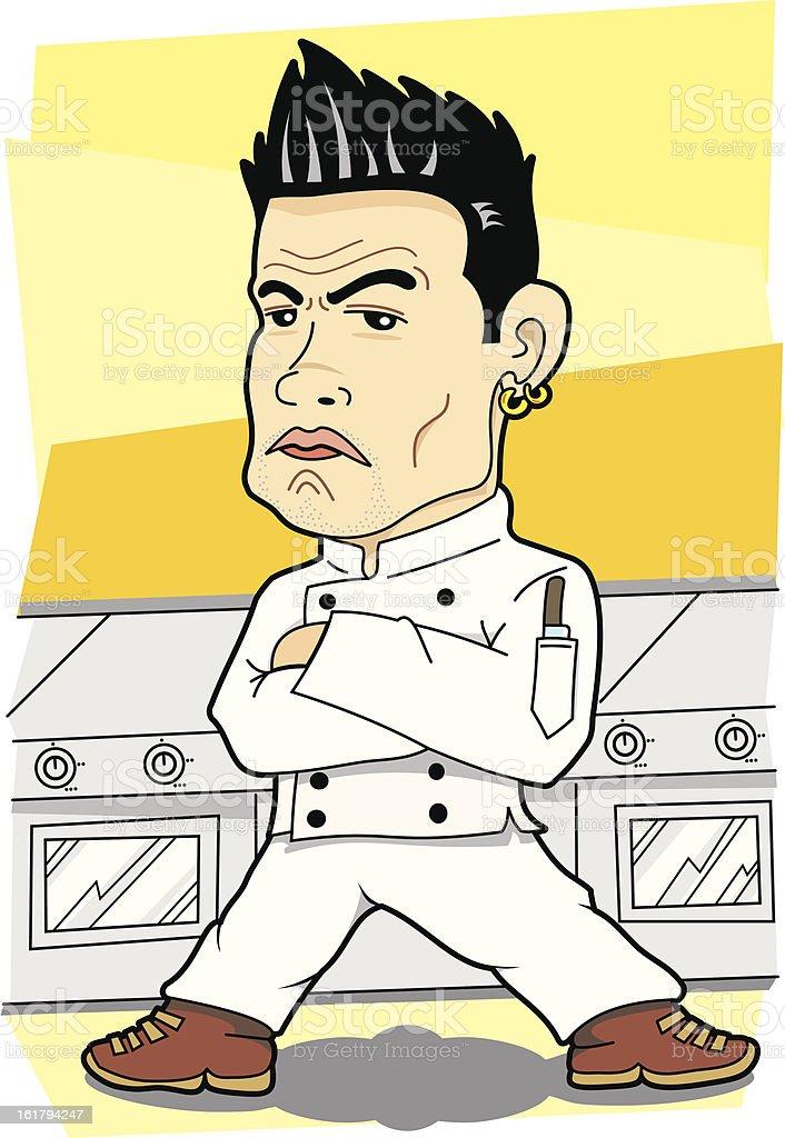 Killer Look Chef royalty-free stock vector art