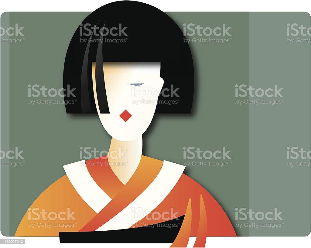 kimono girl royalty-free stock vector art