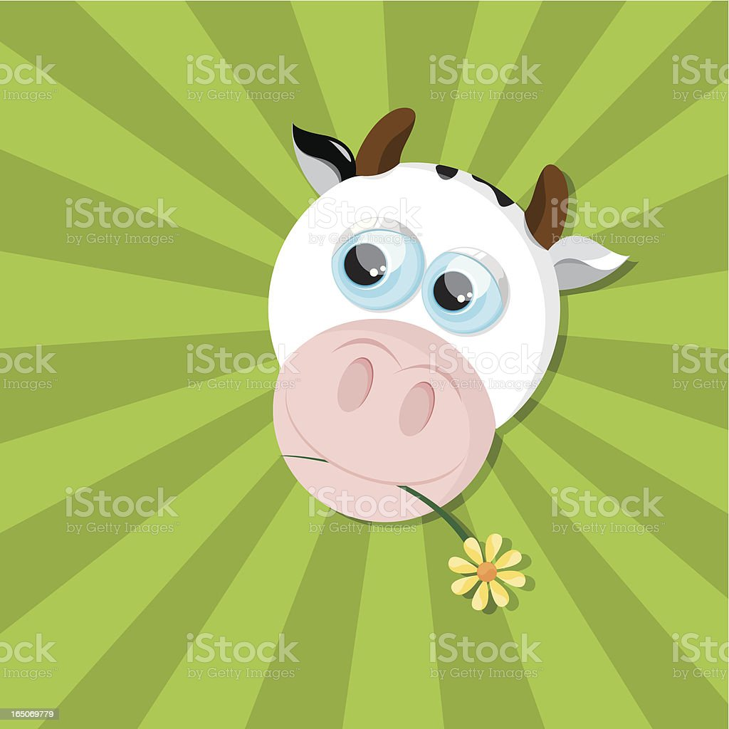 Kind Cow royalty-free stock vector art