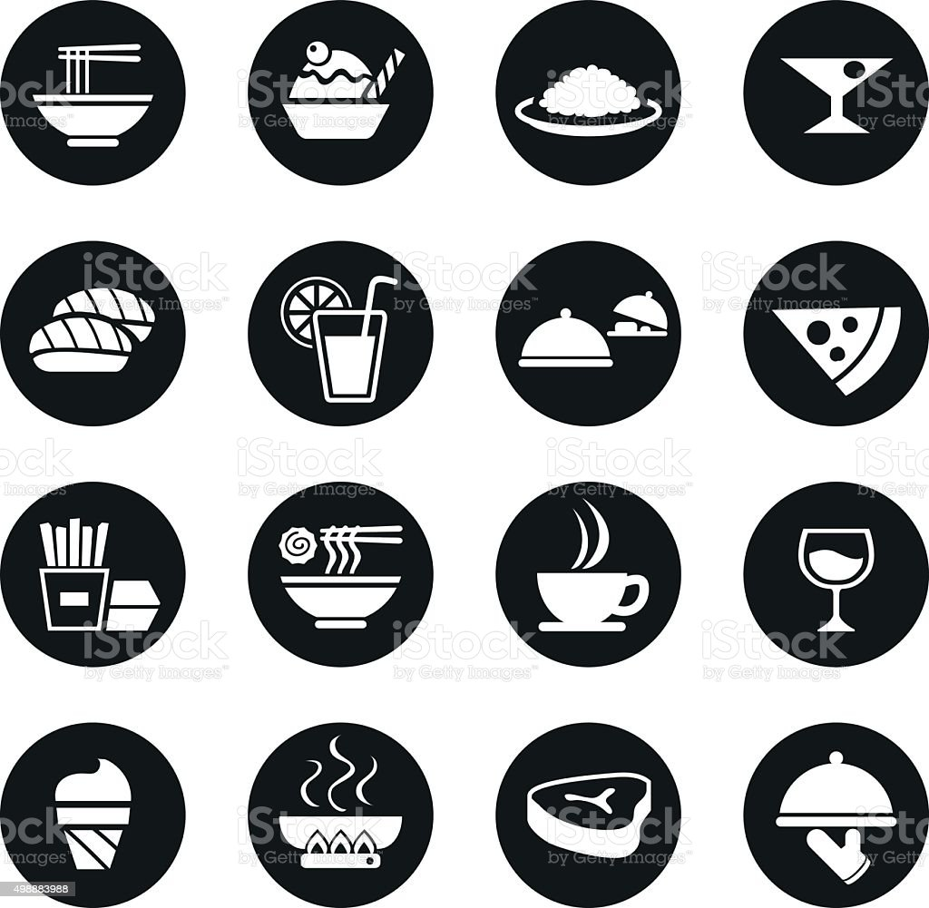 kind of  food icon symbol set vector art illustration