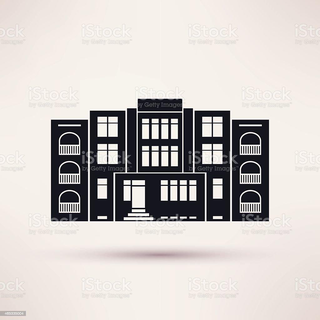 Kindergarten. Icon in the flat style. Vector. vector art illustration