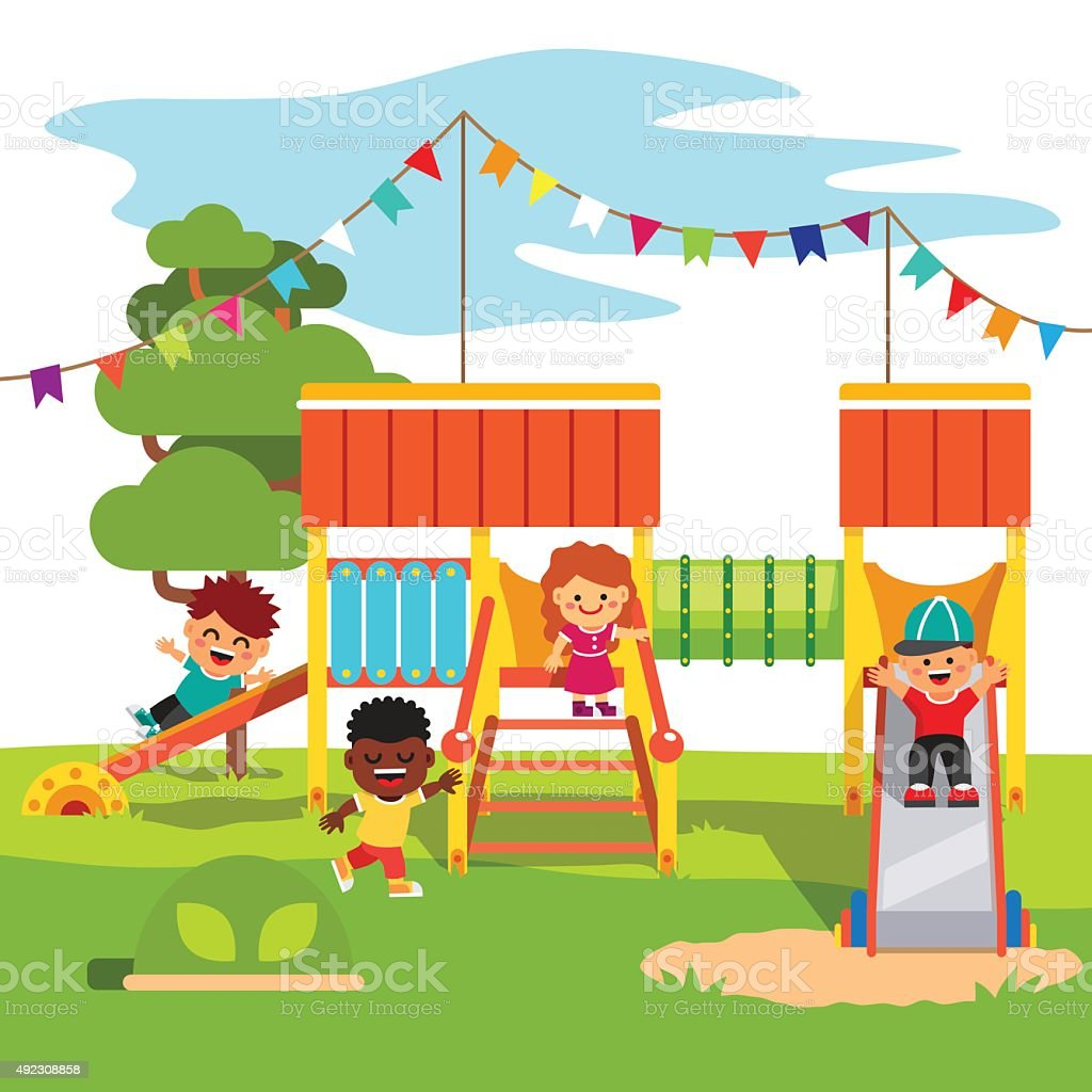 parque jardines de infancia jugando con patio de juegos para nios tobogn libre de