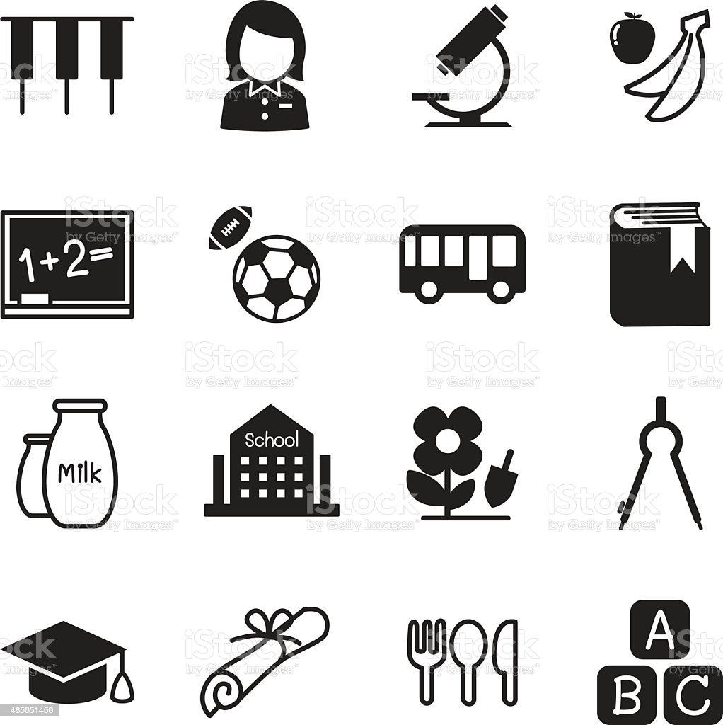 Kindergarten school education icons Vector Illustration Symbol 2 vector art illustration