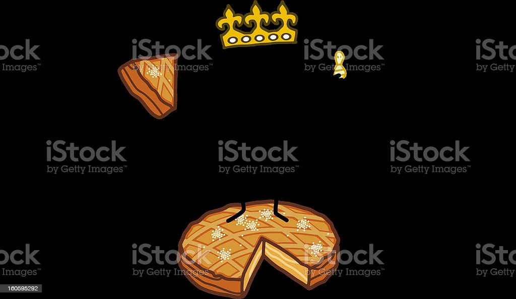 king & epiphany cake stock photo