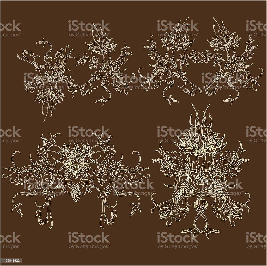Mit King-Size-Bett und Queen-Size-Bett Lizenzfreies vektor illustration