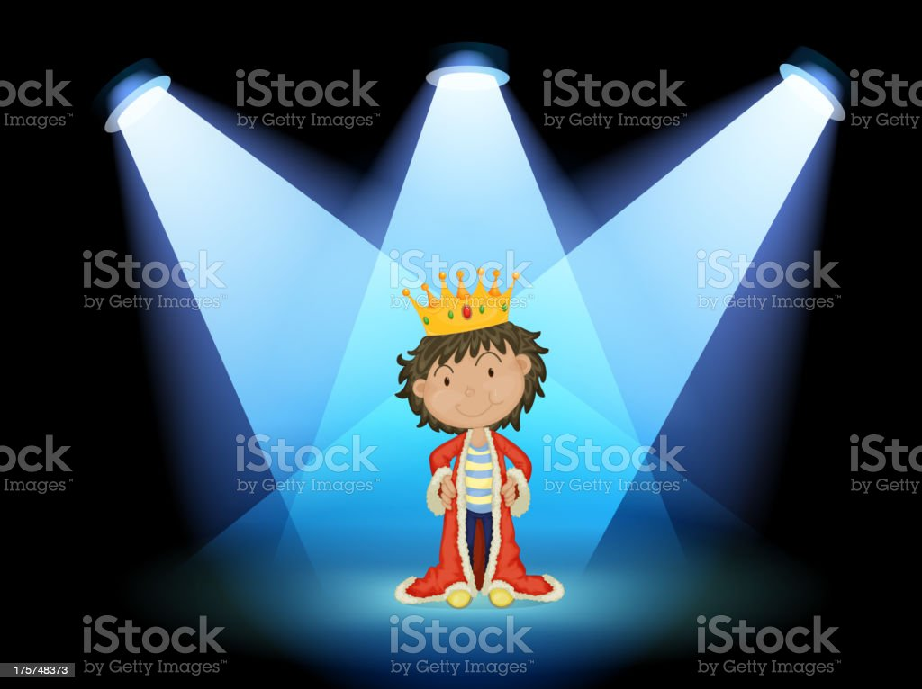 king at the center of stage royalty-free stock vector art