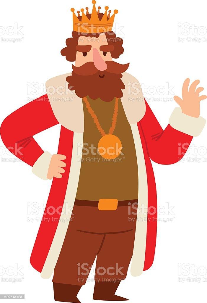 King cartoon vector character. vector art illustration