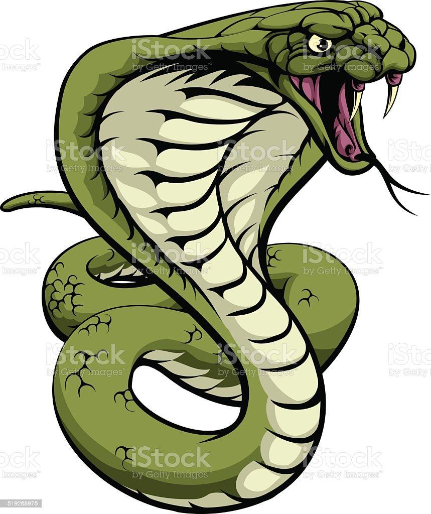 King Cobra Snake vector art illustration