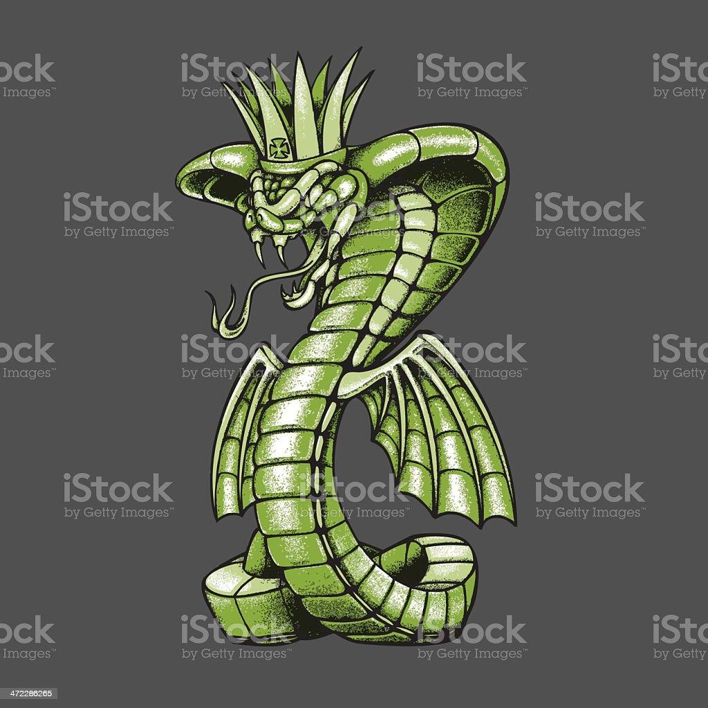 King Cobra royalty-free stock vector art