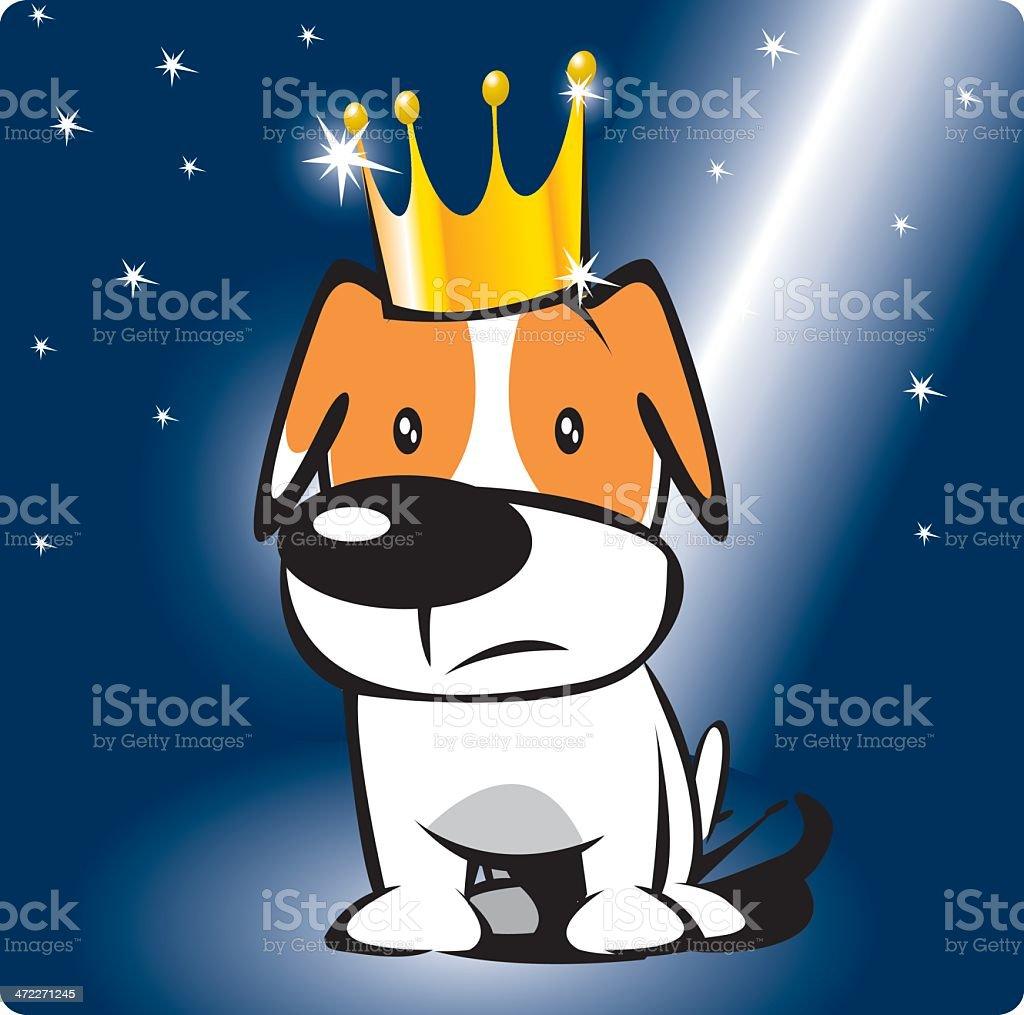 king doggy royalty-free stock vector art