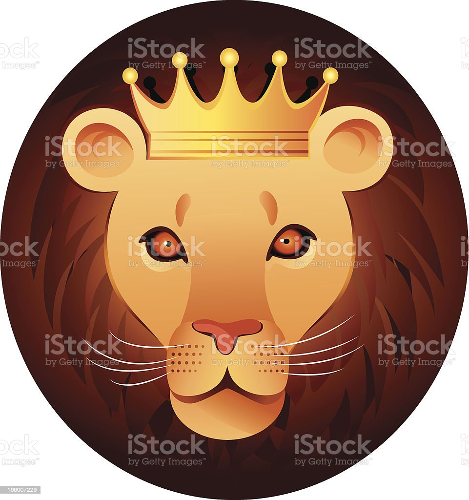 King lion royalty-free stock vector art