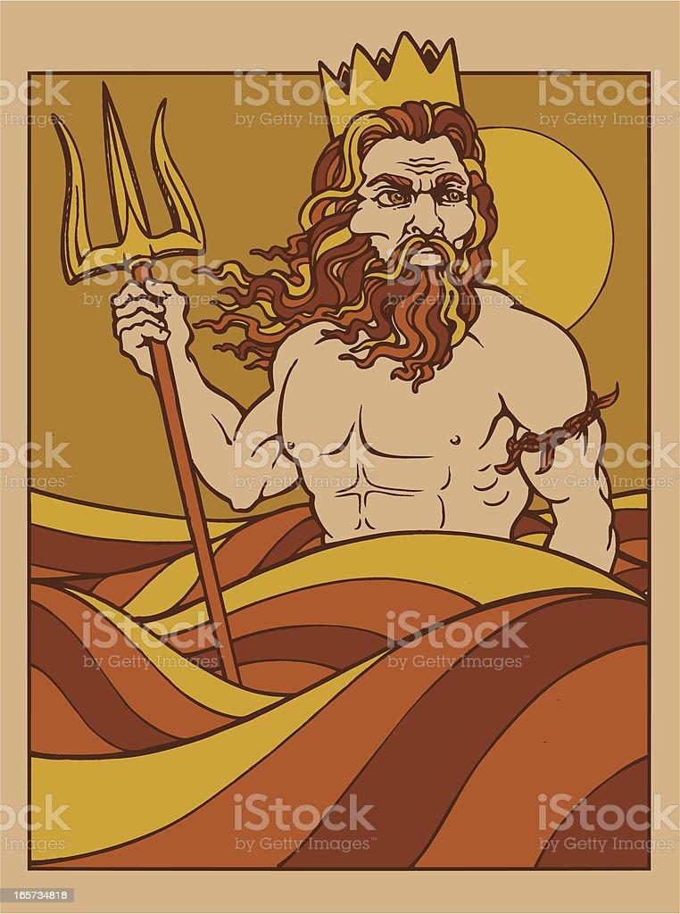 King Neptune vector art illustration