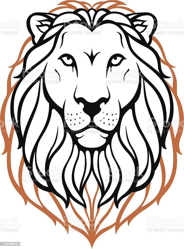 King of Beast vector art illustration