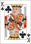 King of Clubs Two playing card