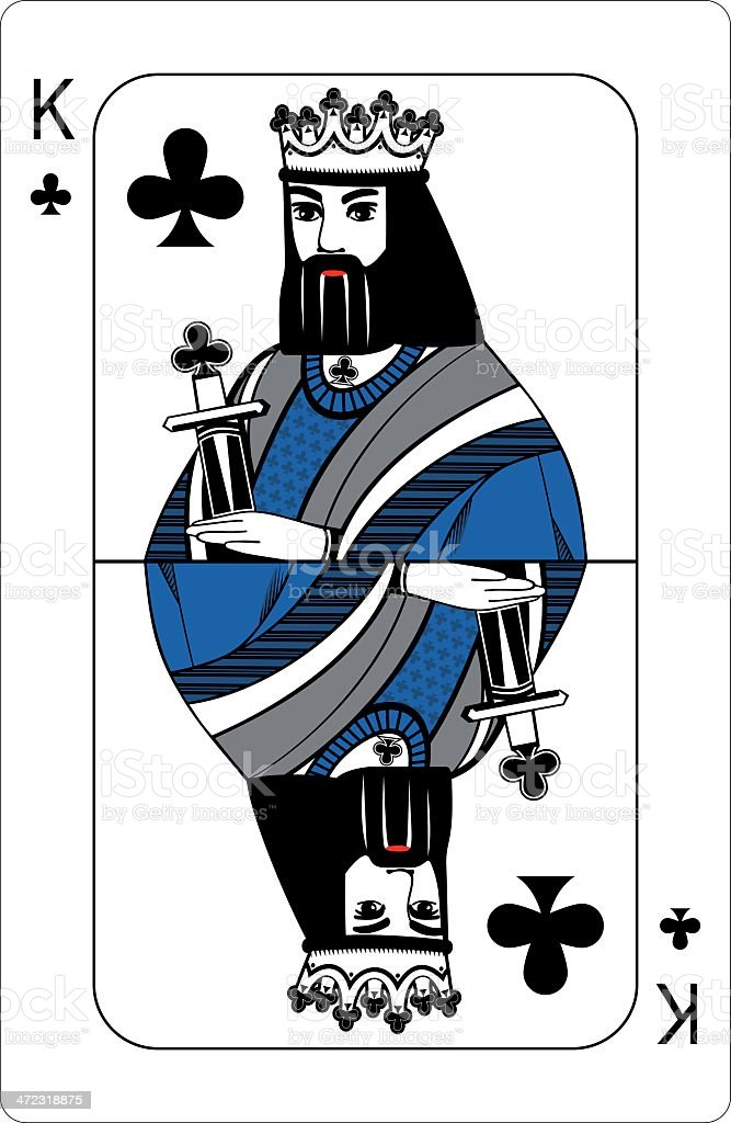 King of clubs. royalty-free stock vector art