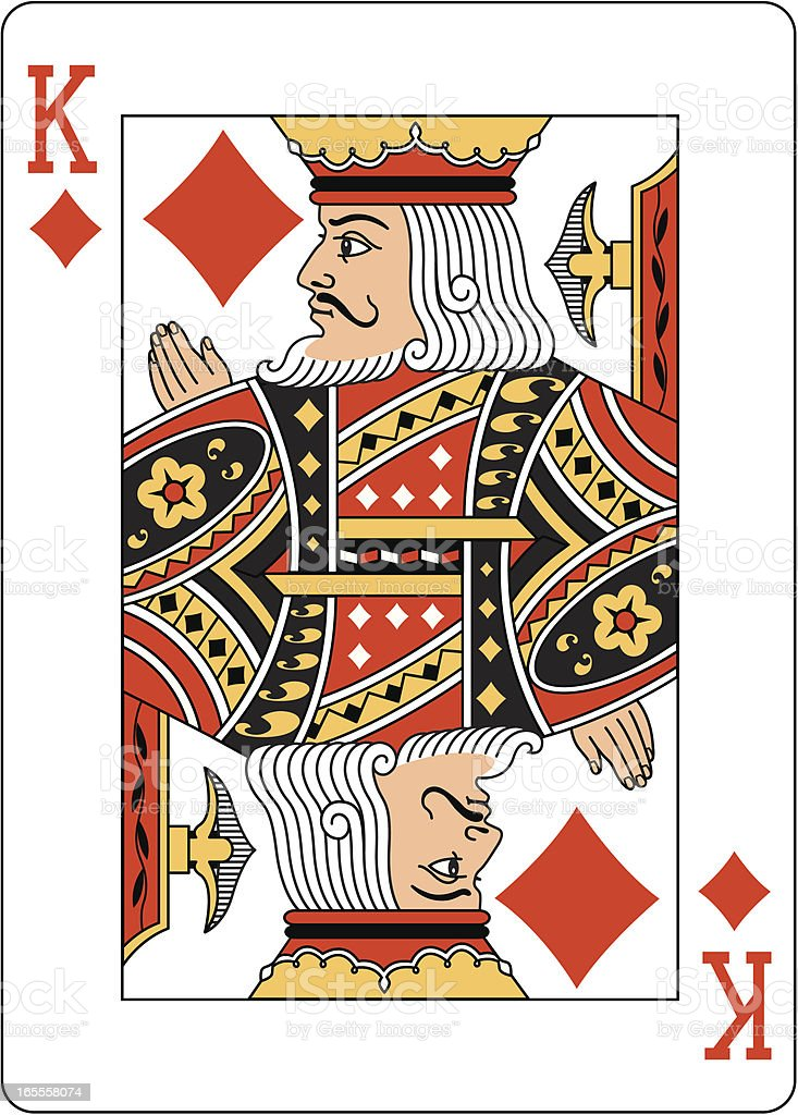 King of Diamonds Two playing card royalty-free stock vector art