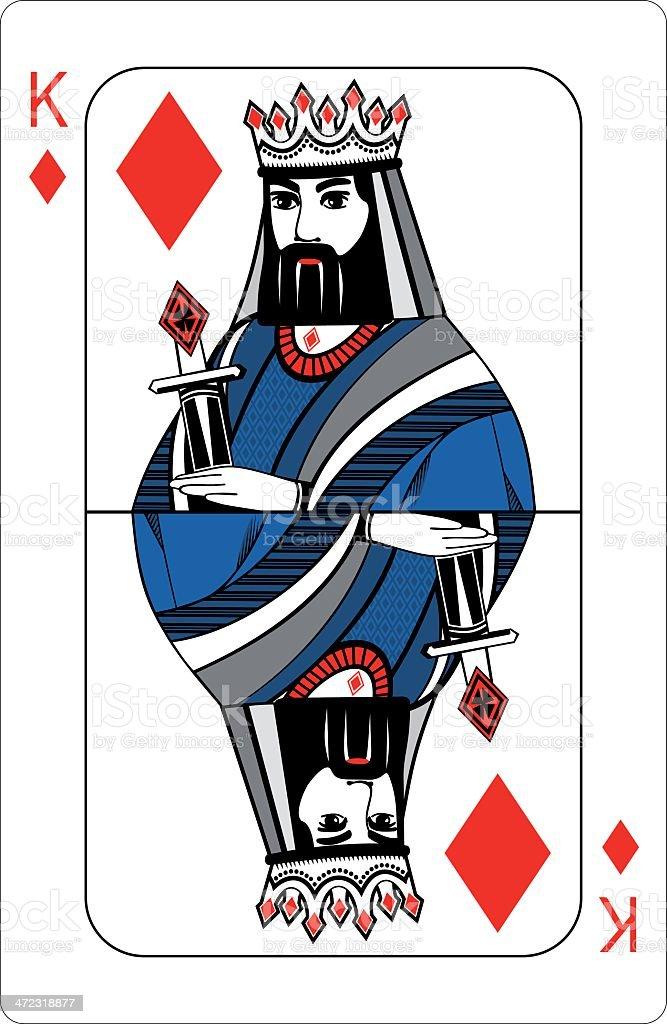 King of diamonds. royalty-free stock vector art