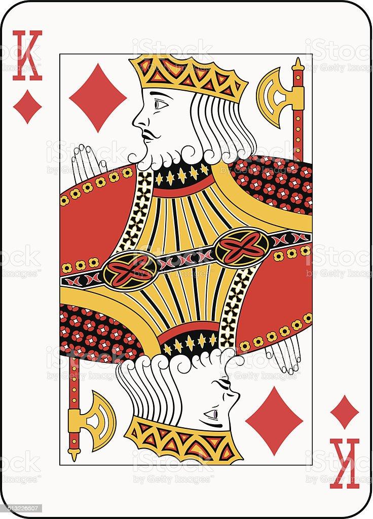 King of diamonds vector art illustration