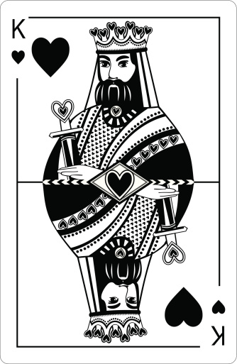 King Of Hearts Clip Art, Vector Images & Illustrations ...