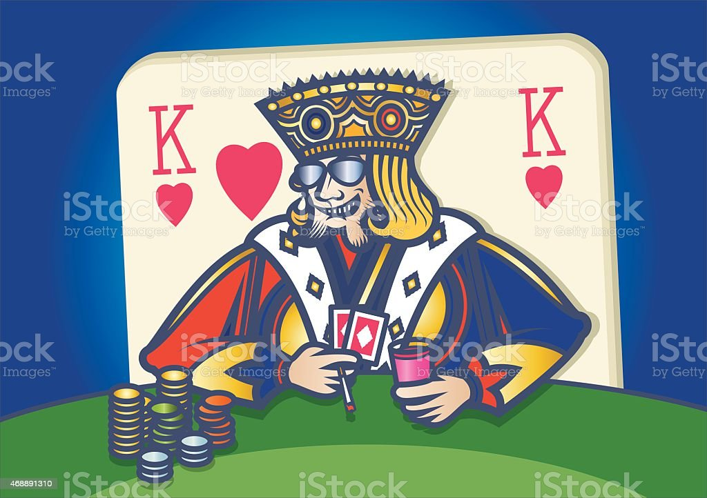 King Of Hearts (King Card) vector art illustration