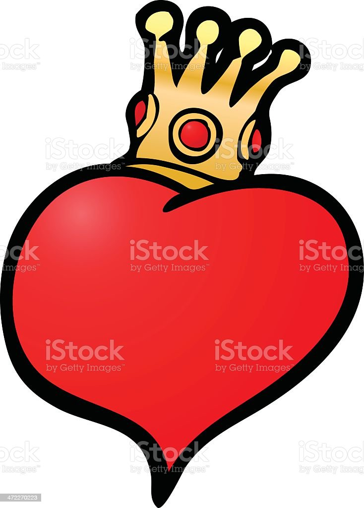 King of Hearts royalty-free stock vector art